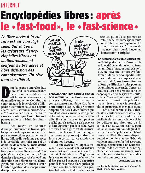 critique darticle scientifique